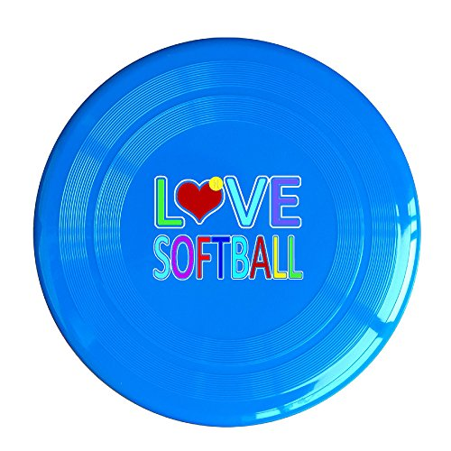 Discovery Wild Love Softball Plastic Sportdisc Flying Disc - Frisbee Like Toy For Outdoor Game Play - Sports For All Ages - Party Fun - RoyalBlue