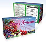 Chews-4-Health - Super Antioxidant, Super Fruit, and Sea Vegetable Blend; 16 Natural Whole Food Ingredients - The Best From Land and Sea! 60 Great-Tasting Chewable Tablets.