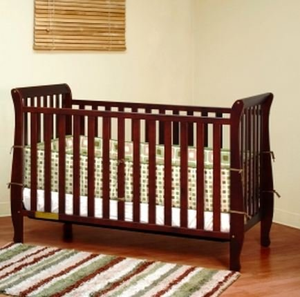 Athena Naomi 4 In 1 Crib With Toddler Rail, Cherry