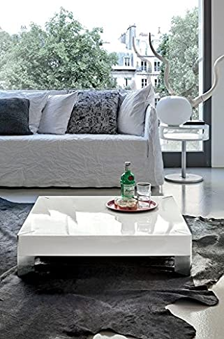 Target, PEGASUS - Tavolino laccato lucido Quadrato 85x85