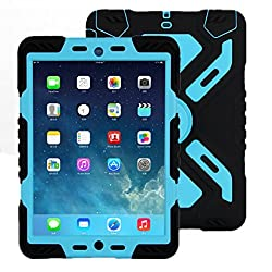 Ipad Mini 3 Case, Ipad Mini Silicon+pc+ PET Screen Protector Full Protection Shockproof Sand/dust/dirt Weather Proof Case Shell for Ipad Mini 1 2 3 , Military Heavy Duty Army Light Weight Case Cover with Kickstand for Ipad Mi