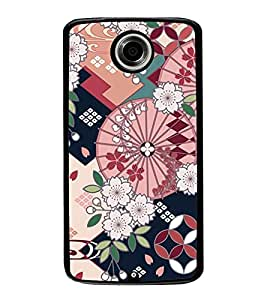 Flower Pattern 2D Hard Polycarbonate Designer Back Case Cover for Motorola Nexus 6 :: Motorola Nexus X :: Motorola Moto X Pro :: Motorola Google Nexus 6