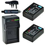 ChiliPower Samsung BP1030, BP1130 Kit: 2x Battery (1130mAh) + Charger (UK Plug) for Samsung NX200, NX210, NX300, NX1000, NX1100, NX2000, ED-BP1030