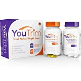 YouTrim - DUAL ACTION Weight Loss Pills & Fat Burners ★ LOSE WEIGHT or YOUR MONEY BACK! ★ 100% Natural Slimming Pills With ZERO Shakes or Jitters - Appetite Suppressants - Boost Metabolism - Reduce Stubborn Fat - Increase Your Energy Levels - Optimize Focus - Diet Pills For Men And Women - FDA Registered - PROVEN results - FREE Weight Loss eBook + FREE Diet Plan + FREE Food Guide - 60 Fat Burner Capsules & 60 CLA Softgels