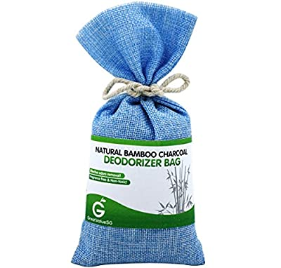 Buy1Get1Free with promo code below - Great Value SG Natural Bamboo Charcoal Deodorizer Bag - Most Effective AIR PURIFIERS For Home, Allergies & Smokers. Portable Odor Eliminator, Car Air freshener- Buy More Save More