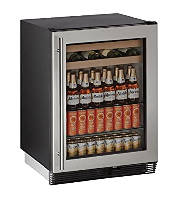 "U-Line U1024BEVS00B 24"" Built-in Beverage Center, Stainless Steel"
