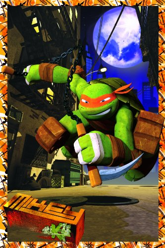 Teenage Mutant Ninja Turtles Michaelangelo Framed 3D Hanging Wall Art, 11-Inch by 17-Inch
