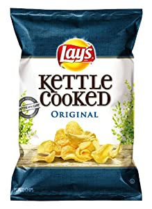 Lay's Kettle Cooked Potato Chips, Original, 8.5 Ounce (Pack of 4)