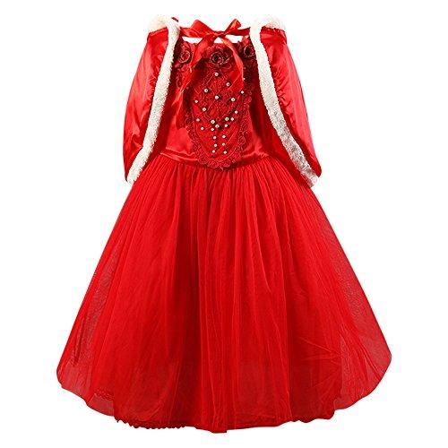 1681 Prächtiges Mädchenkostüm Prinzessinnenkleid mit viel Tüll / Winter-Kleid für Kinder an Karneval, Fasching, Fastnacht