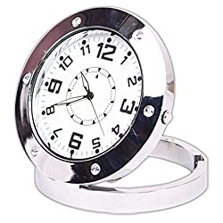 Table Clock Mini HD DVR DV Digital Camcorder Video Small Security Camera - 04