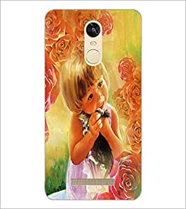 PrintDhaba Cute Baby D-4354 Back Case Cover for XIAOMI REDMI NOTE 3 MEDIATEK (Multi-Coloured)