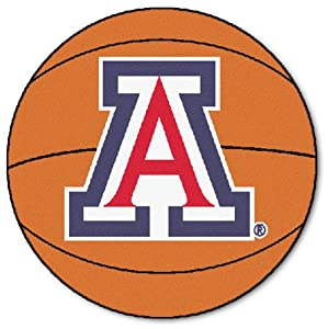FANMATS NCAA University of Arizona Wildcats Nylon Face Basketball Rug by Fanmats