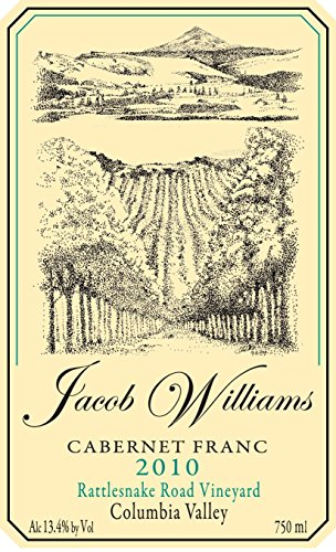 2010 Jacob Williams Winery Cabernet Franc 750 Ml