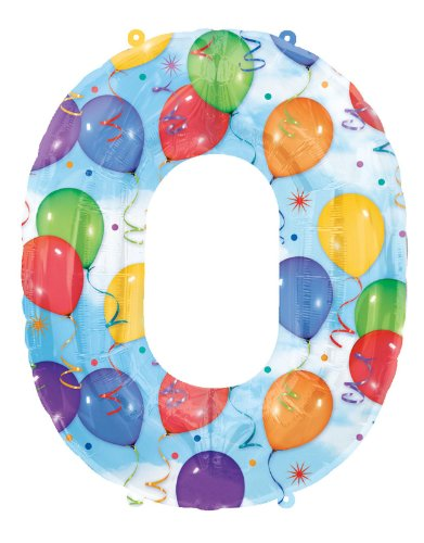 Mayflower Distributing Number 0 Shaped Foil Balloon