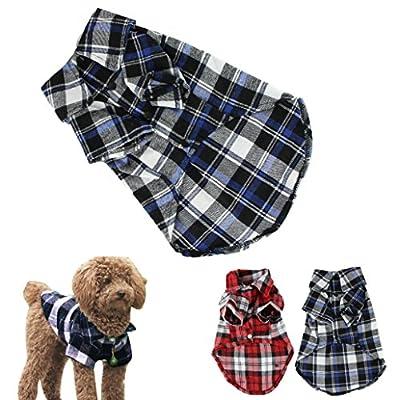 CXB1983(TM)Cute Pet Dog Puppy Clothes Shirt Size XS/S/M/L Blue Red Color