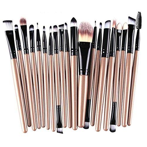 VovotradePerfekt-20-Stck-Make-up-Pinsel-Make-up-Tools-Toiletry-Kit-Wolle-bilden-Brsten-SatzGold
