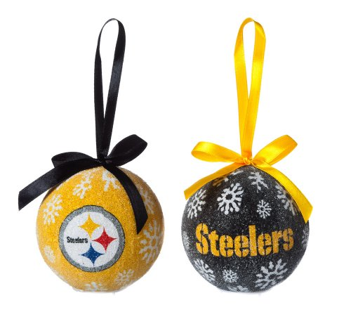 Pittsburgh Steelers Official NFL LED Box Set Ornaments by Evergreen Enterprises, Inc