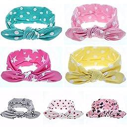 TWDVS Baby Rabbit Ears Cotton Hair Band Girls Ribbon Turban Wrap Headband