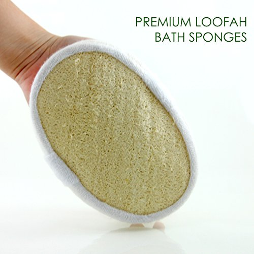 Exfoliating Loofah Bath Sponge Pads Pack Of 4 Ultra