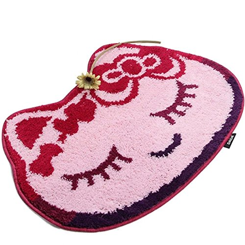E.a@market Cute Cartoon Frog Cat Children Doormat Bathroom Mat 45*65cm (Cat)