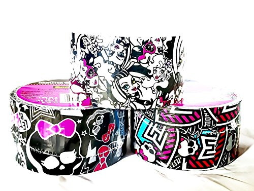 [3 item Limited Edition Mattel Monster High Scotch® Tape Bundle - [Monster High, Freaky Fab, and] (Highschool Halloween Costumes)