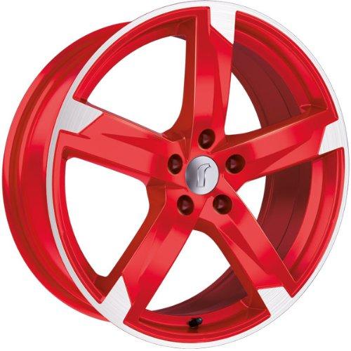 1 x Rondell Z Design 01RZ in 8,0 x 19 ET 45 LZ/LK 5 x 114,3 Farbe Racing Rot, poliert für Hyundai ix35 Typ ELH, LM