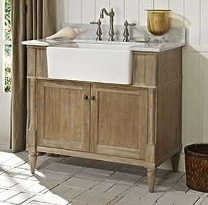 Fairmont designs 142 fv36 rustic chic 36 inch farmhouse vanity in weathered oak Fairmont designs bathroom vanity cottage