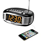 Akai CE1500 Retro Style Am & Fm Clock Radio With Pll Tuner