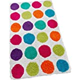 Essentialz Colour Match Spots Bath Mat - Multi with Microfibre HSB Cleaning Glove