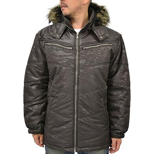 (エアウォーク) AIRWALK 大きいサイズ 迷彩 ジャケット メンズ 中綿ジャケット フード ファー 2color 3L ブラウン