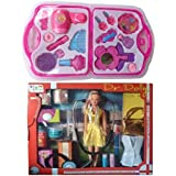 Combo Of Dr. Dolly Doll Set And Fashion Beauty Set For Kids