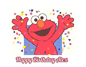 Elmo Birthday Cake Edible Image : Amazon.com: Sesame Street Elmo Edible Image Photo Cake ...