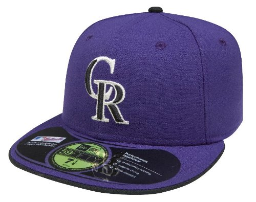 MLB Colorado Rockies Authentic On Field Alternate 59FIFTY Cap , Purple, 7 1/8 at Amazon.com