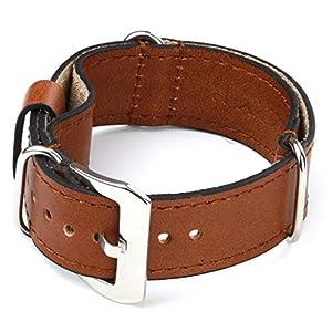 StrapsCo Rust Nato Zulu Military Style Leather Watch Band size 24mm