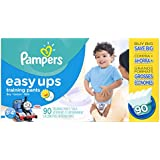 Pampers Easy Ups Training Pants Boys Diapers, Size 3T4T, 90 Count