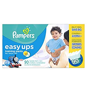 Pampers Easy Ups Training Pants Boy Size 3T4T, 90 Count