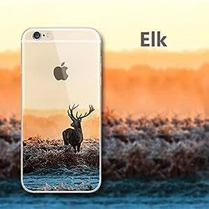 iPhone 6s Plus Case,iPhone 6 Plus case,XYUN TPU Frame Hard Back Thin Cover ,[Scenery Series] [Anti Slip] [Ultra Slim] [Anti Scratch] for Apple iPhone 6s Plus (Elk)