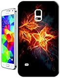 The Hallowmas Gift With Beautiful Fire Flowers Horses Dragon Nice Fashion Cell Phone Cases Design Special For Samsung Galaxy S5 i9600 No.3