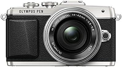 Olympus Kit Fotocamera PEN E-PL7 con Obiettivo M.Zuiko Digital EZ 1442mm 1:3.55.6 Pancake, Argento