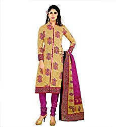 Fashiondiya Women's Cotton Unstitched Dress material (Geet-01_Multicolor)