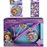Disney Jr. Sofia the First Music Gift Set for Kids - Princess Sofia the First Tambourine, 1 Toy Drum, 1 Flute Recorder and 2 Maracas Plus Bonus Pack of Princess Sofia Stickers