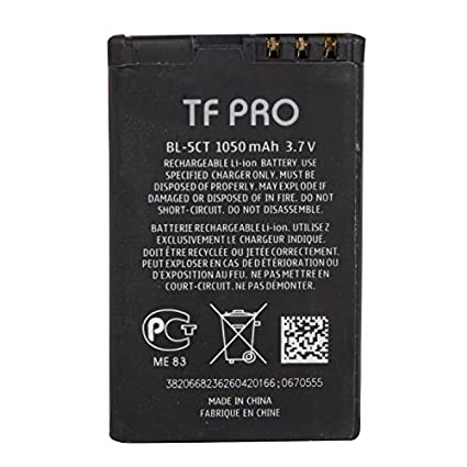 Tfpro-BL-5CT-1050mAh-Battery-(For-Nokia)