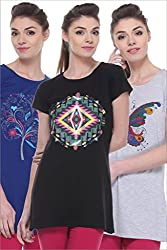 GLASGOW Women's Casual Printed Long Top