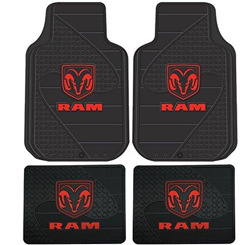 Dodge Ram Head Logo 4 Pc Floor Mats Set (Dodge Floor Mats compare prices)