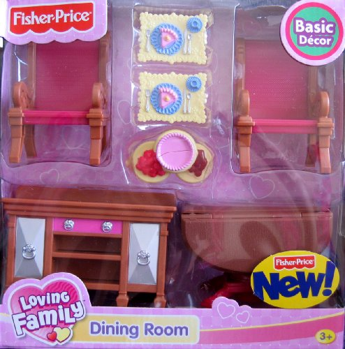 Loving Family Dining Room Basic Decor Playset - For Grand Dollhouse (2008)