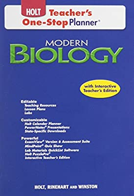 Holt Modern Biology Teacher's One Stop Planner (2008) from Holt, Rinehart, Winston