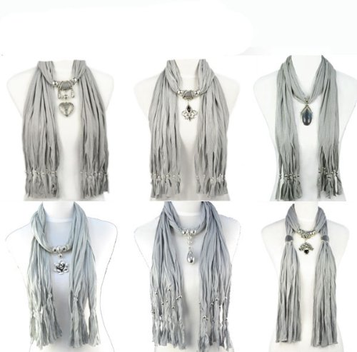 6 Styles/lot,grey Scarf Group Mix Design Fashion Winter Jewelry Scarf Woman Warm Shawl,10-18 Days Delivery From China By Usps