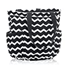 Thirty One Retro Metro Bag in Black Chevron - No Monogram - 3218
