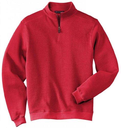 Port Authority®- Flatback Rib 1/4-Zip Pullover, True Red, XL