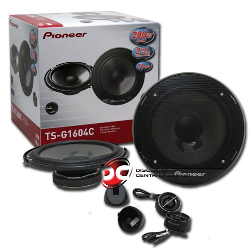 "Pioneer 6.5"" 2-Way Car Audio Component Speakers (Pair) Set 6.5-Inch Speakers"